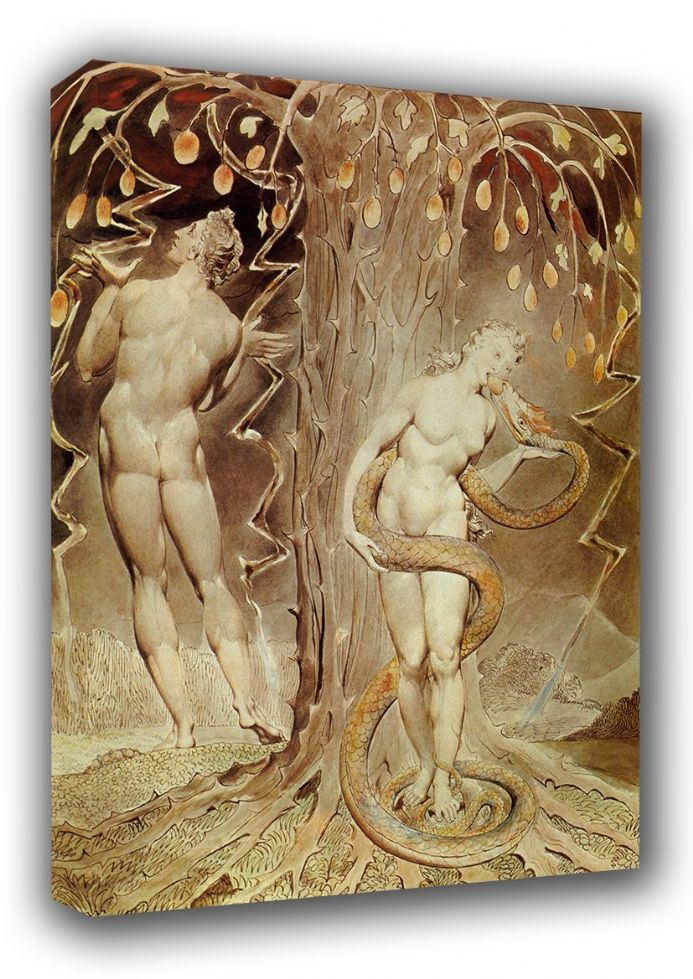 Blake, William: The Temptation and Fall of Eve. Fine Art Canvas. Sizes: A3/A2/A1 (00454)